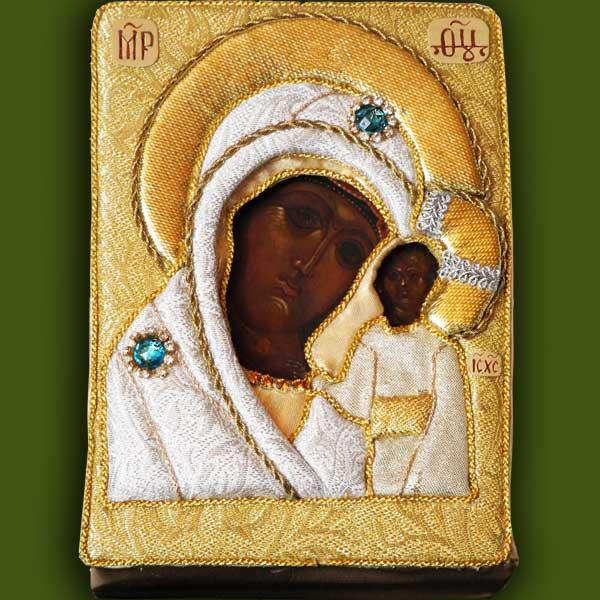 Оклад иконы Богородицы от Нонны Ивановой